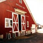 The red barn at Mapleline Farm.