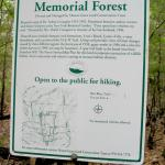 Mt. Grace sign for Hidden Valley Memorial Forest
