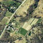 Aerial view of Caretaker Farm