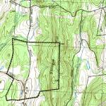 Payne's Foxbard farm outlined on a topo map.