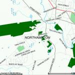 A map of open space in Northampton.