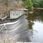 The original dam that turned Cole's Brook into North Lake.