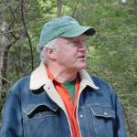 John Payne talks about future woodlot management options on the leased property.