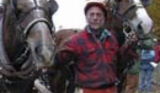 Kip Porter and draft horses